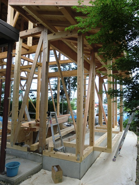 木工事開始
