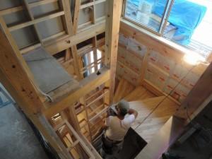 階段製作中2