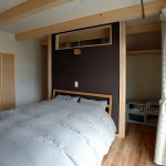 10 間仕切り一枚で寝室とWCLを分けスペース節約