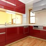 お気に入りの色のキッチンはお料理も楽しくなりそう。
