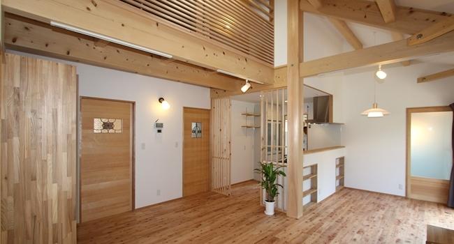 平屋+ロフトの暮らしやすい家