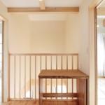 2階ホール:机は可動式