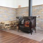 火の入った暖炉