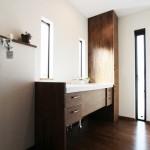 サニタリースペース:造作洗面台