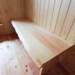 お施主の手作りベンチ(天板は「秋田杉」)