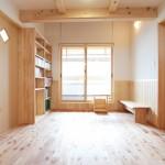 2階ホール(物干しスペースとしても利用)