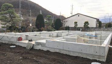塩尻市大門の新築住宅 T様邸 基礎工事