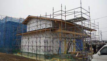 塩尻市広丘の新築工事 K様邸 建て方完了