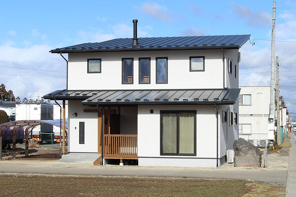 薪ストーブのある木の新築・注文住宅
