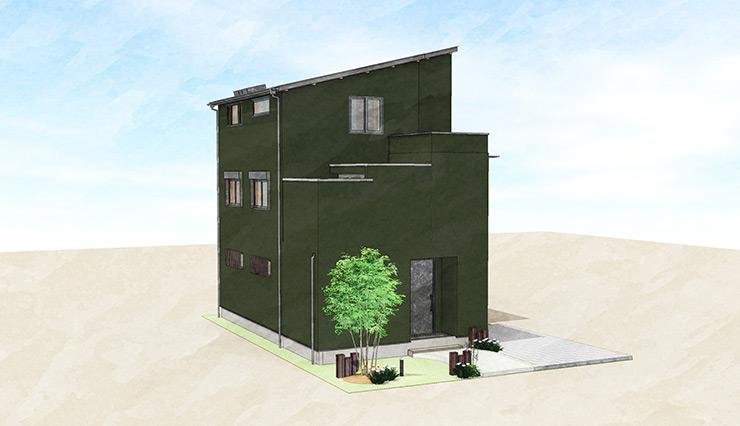 【予約制|完成見学会】6/26~28 松本市大手『狭小敷地に建つ3階建ての木の家』