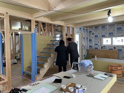 松本市内田の新築住宅 M様邸 内部造作工事