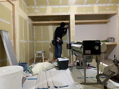 松本市清水の新築住宅 O様邸 クロス工事